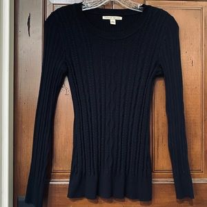 Adorable Form Fitted Black Pullover Sweater